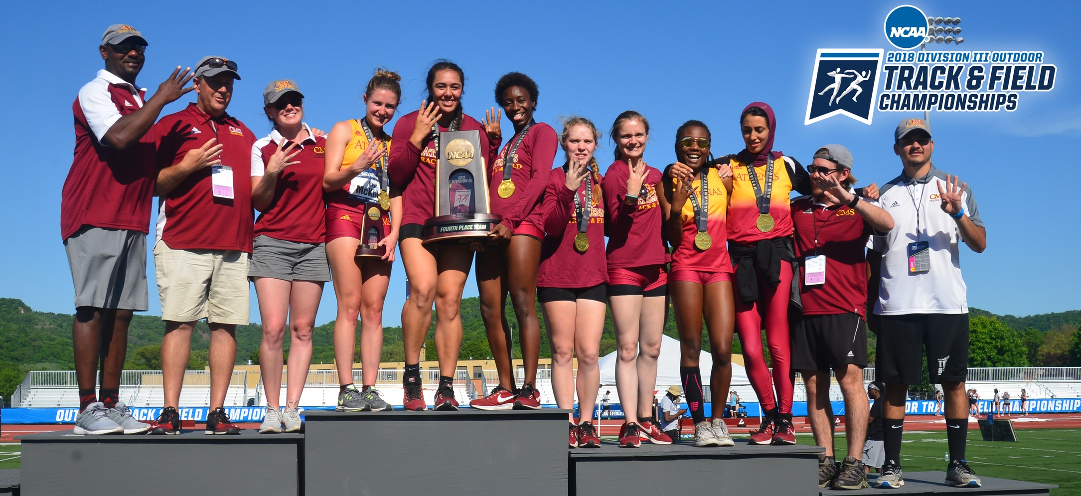 CMS women's track and field placed fourth at the NCAA DIII National Championships. (photo credit: Chris Spells)