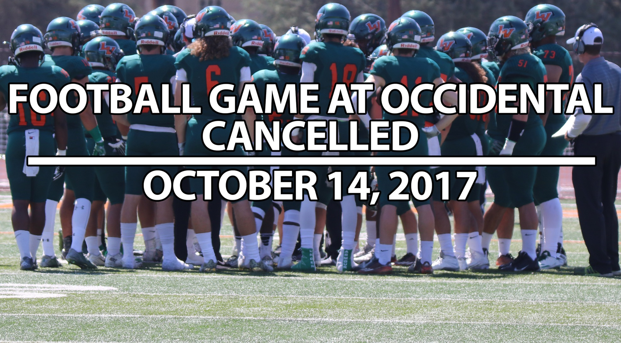 La Verne Football Game at Occidental Cancelled
