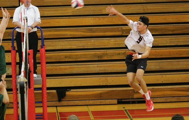 Men's Volleyball Falls to Nationally-Ranked Endicott, Downs Southern Vermont in NECC Tri-Match