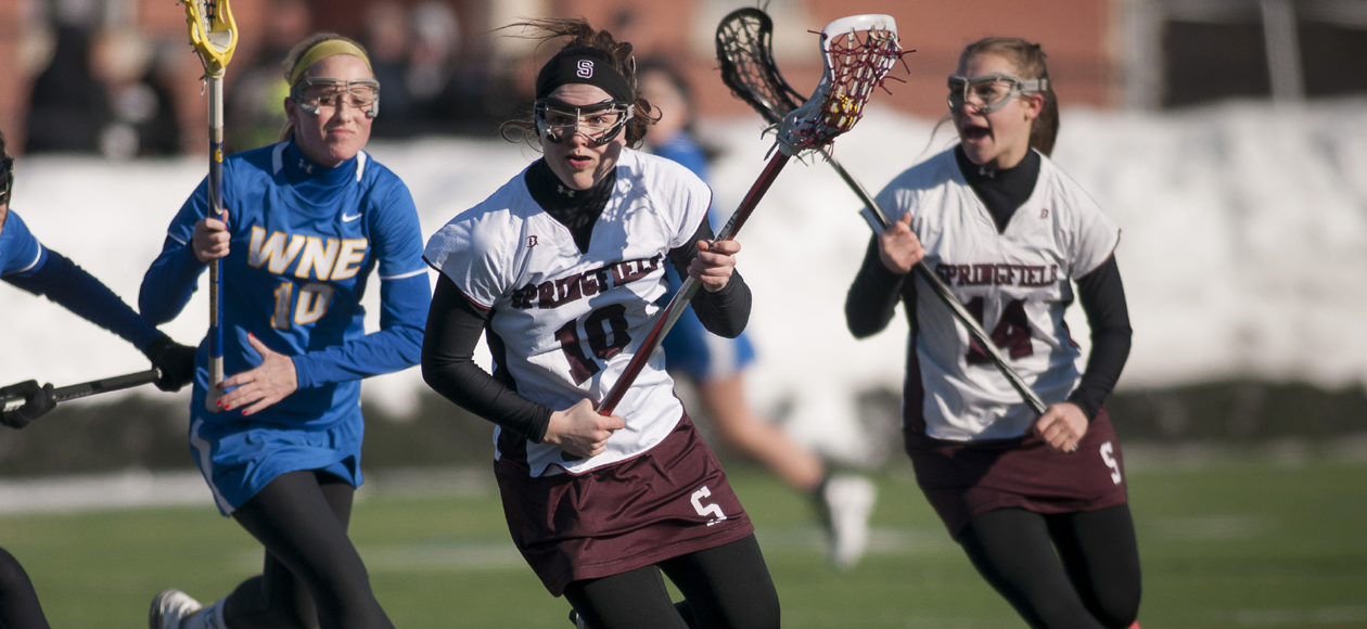 Schroeher's Career Game Leads Women's Lacrosse Past Wellesley, 15-8