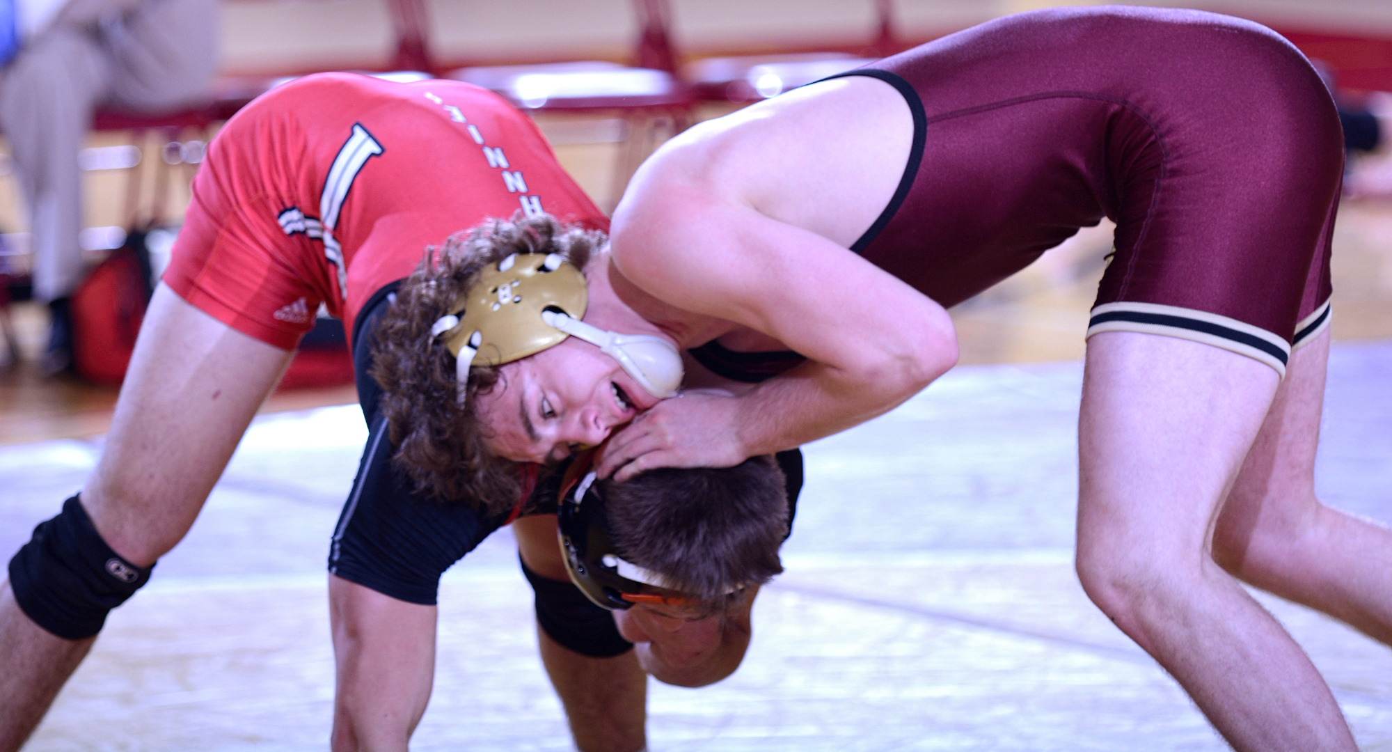 Sophomore Ty Johnson scored a pin fall in his match at 149 to help Concordia beat St. John's 33-13.