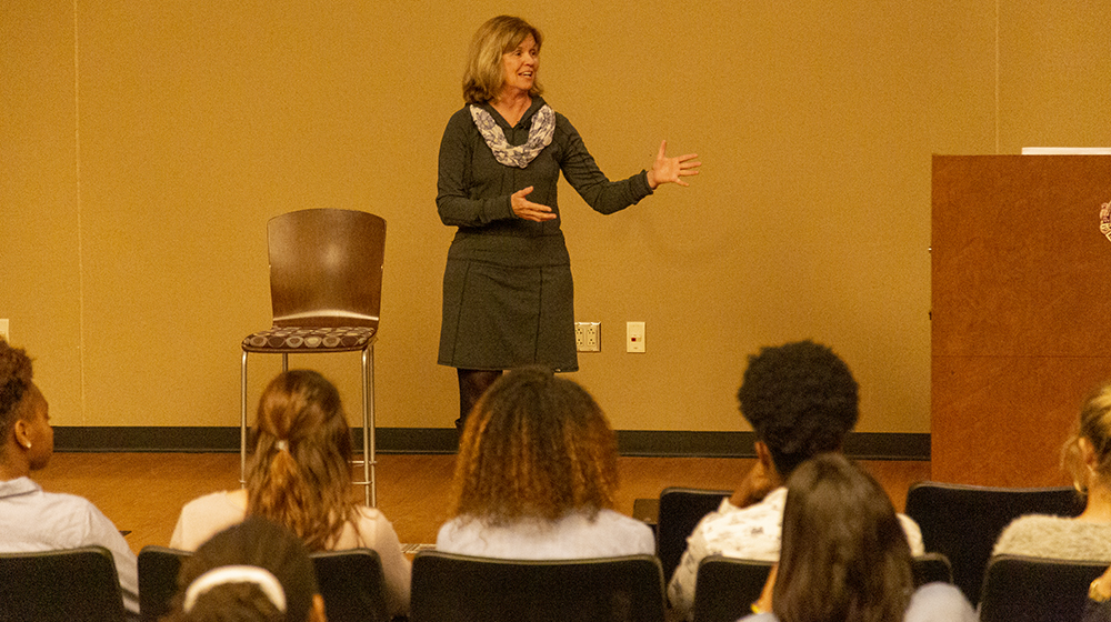 WCTE's Becky Magura empowers female student-athletes at Dr. M. Dianne Murphy Leaders for Life event