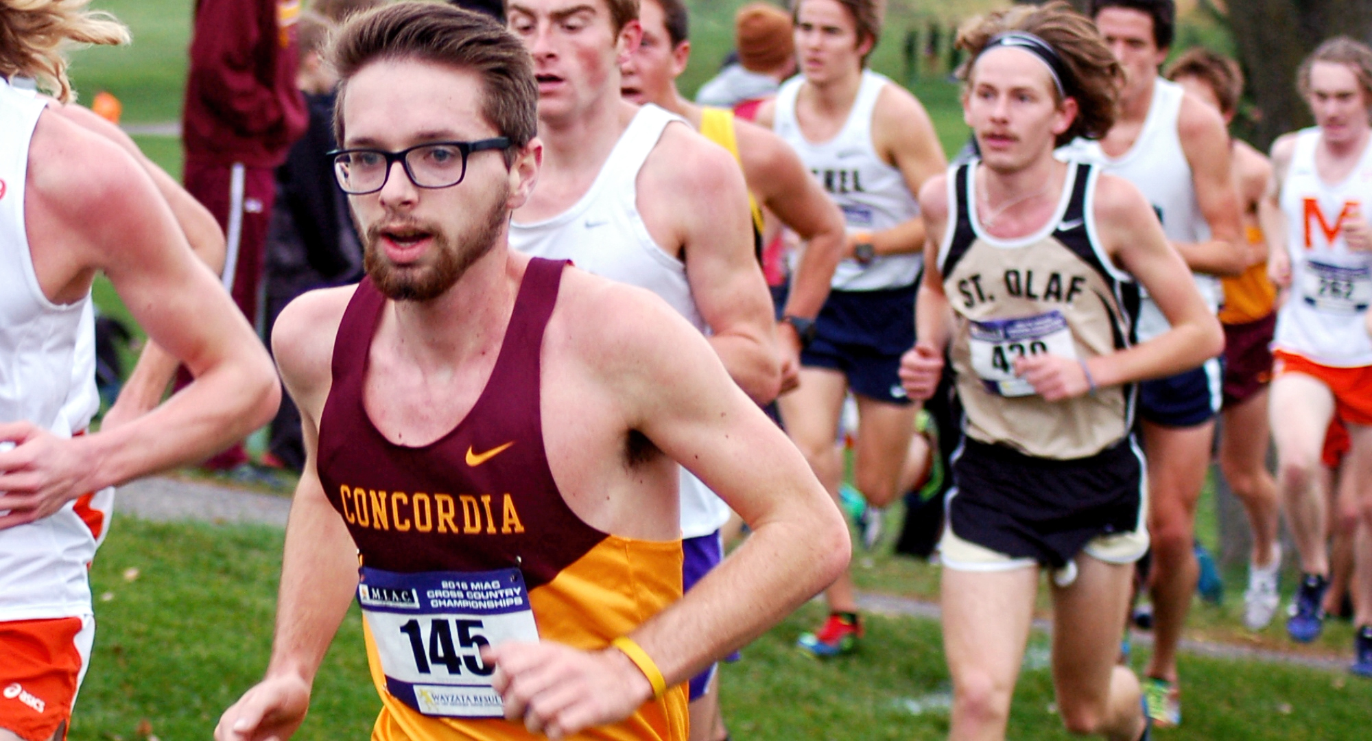 Freshman Eric Wicklund posted a Top 50 finish in his first conference meet and led the Cobbers at the MIAC Meet.