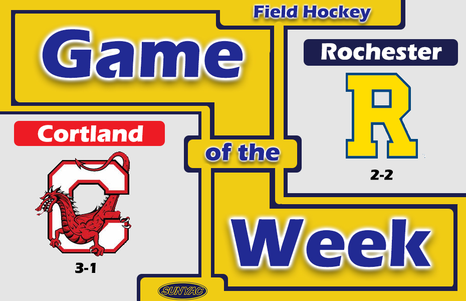 SUNYAC Game of the Week - Cortland Field Hockey beats Rochester in Overtime Win