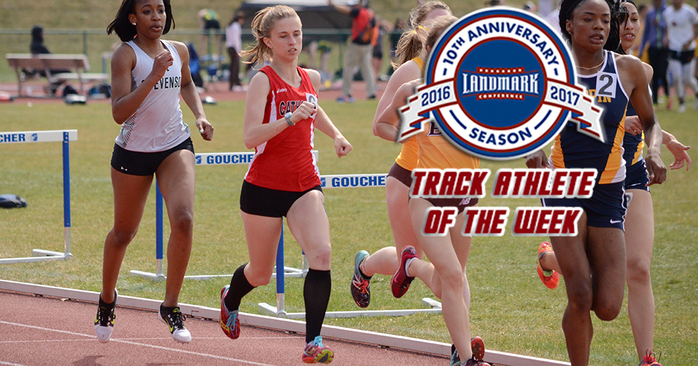 Lyons Earns Landmark Track Athlete of the Week Honor