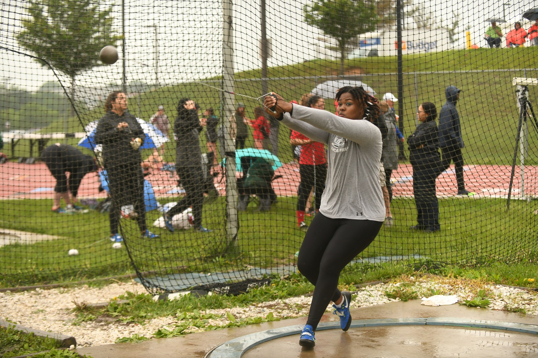 Bishop Sets School Record in Weight Throw, Hammond Takes Second in Long Jump at Bison Open