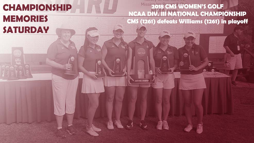 CMS Women's Golf celebrates national title