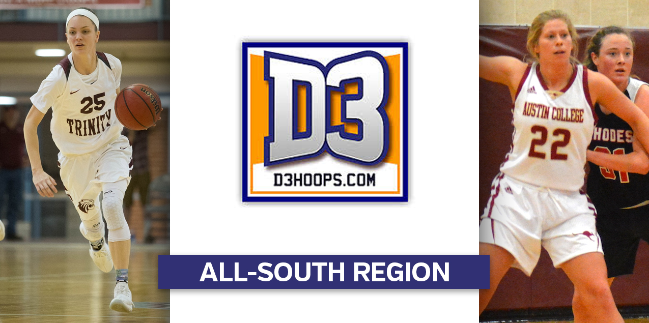 Austin College's Frank, Trinity's Weaver Named to D3hoops.com All-South Region Team