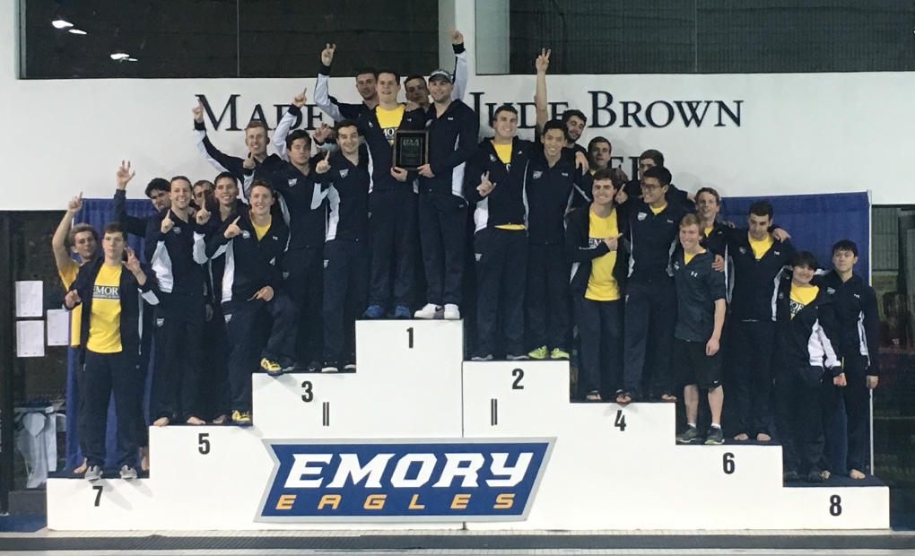 Men's Swimming & Diving Win 20th Consecutive UAA Title