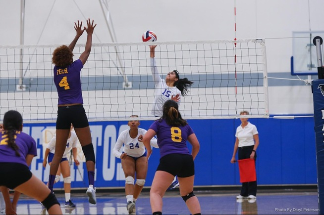 Daisy Segura led the Falcons in kills in their win and digs on the season