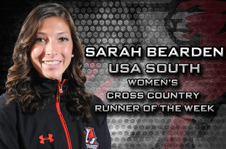Cross Country: Sarah Bearden selected as USA South Cross Country Women's Runner of the Week