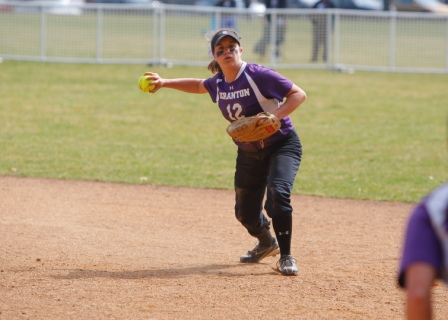 Senior second baseman Nina Bruno had an RBI in Scranton's 5-2 loss to Moravian in a Landmark Conference playoff game on Friday afternoon.