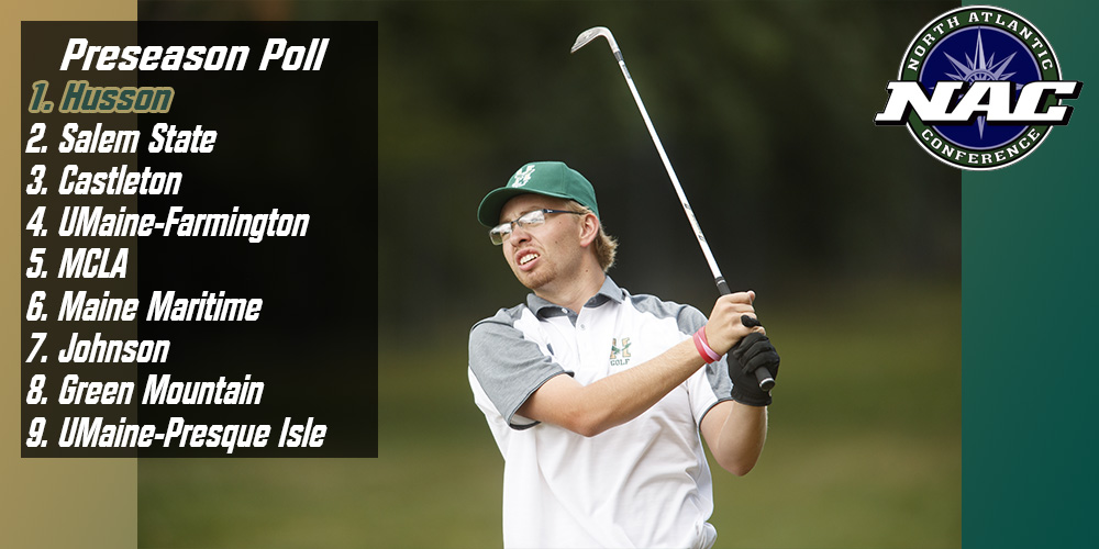 Husson Picked as 2017 NAC Men's Golf Preseason Favorite
