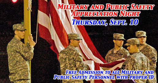 Military and Public Safety Appreciation Night Sept. 10 at Tucker Stadium