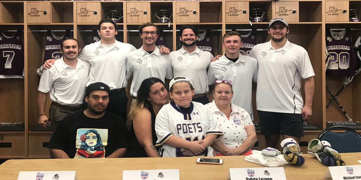 Men's Lacrosse Signs Isaac Lozano on Team IMPACT Signing Day