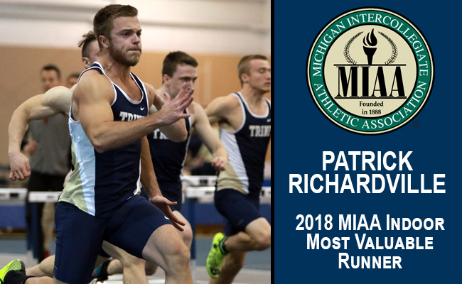 Richardville Named MIAA Indoor Track Most Valuable Runner