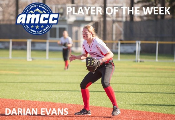 Evans Named AMCC Player of the Week