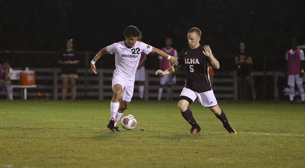 Men's soccer clipped by Alma