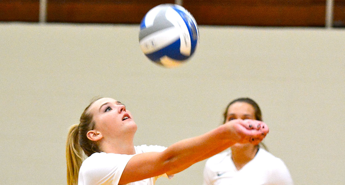 Freshman Taylor McCuiston finished with a career-high 10 kills in Saturday's loss to Marietta. (Wilmington file photo)