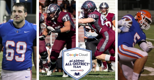 Four SCIAC Football Student-Athletes Garner CoSIDA Academic All-District Praise