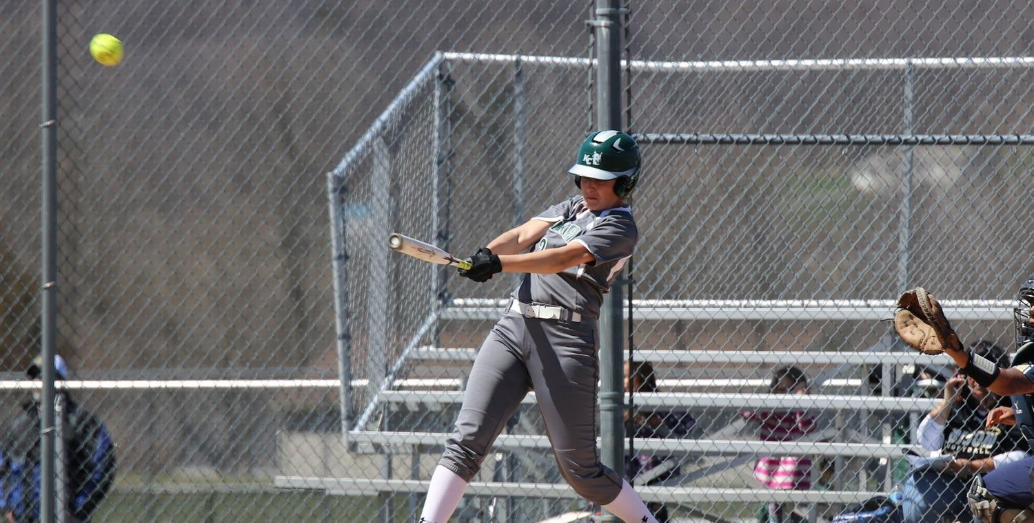 Shannon Johnson (3) had a combined 5 hits and 4 RBIs on Sunday against Gallaudet  -- Photo by Veronica Ebert