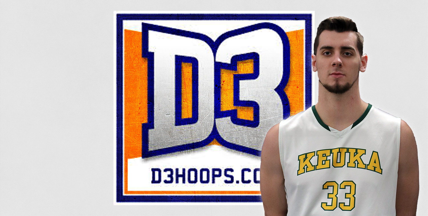Keuka College senior Ryder Mansfield was honored on Monday, being named to the D3Hoops.com Team of the Week.