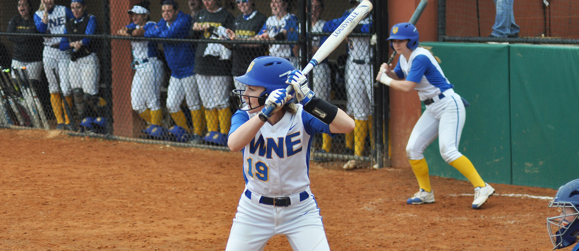 Sophomore Emily Cooney went 2-for-5 at the plate with one RBI and two runs scored during Western New England's doubleheader sweep of Roger Williams on Sunday. (Photo by Michelle Wlosek)