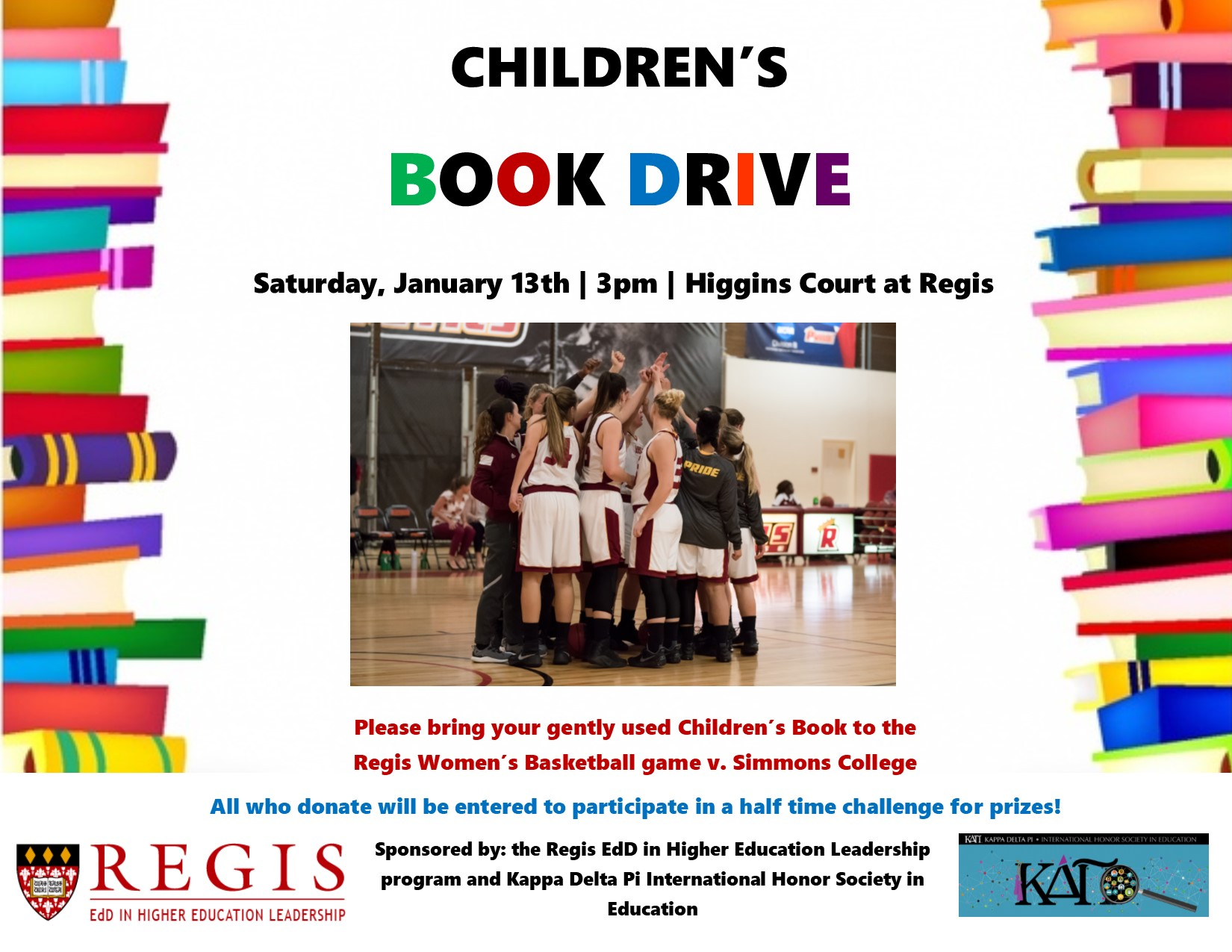 KDP Book Drive Set For Saturday Women's Basketball Game