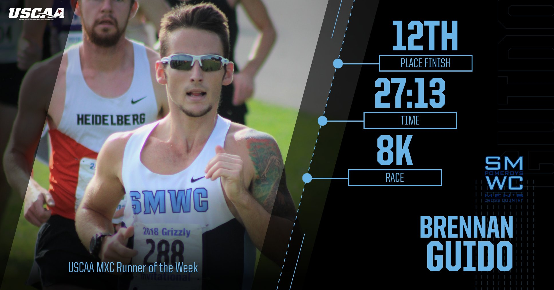 Guido Earns Men's XC USCAA Runner of the Week