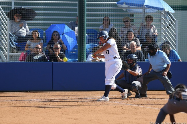 Allyanna Hernandez reached base twice in her first start of the season.