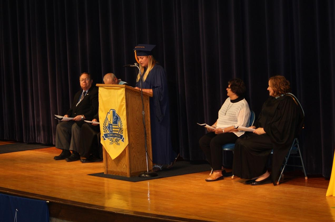 Iowa Lakes Commencement Speech Given by Courtney Calkins
