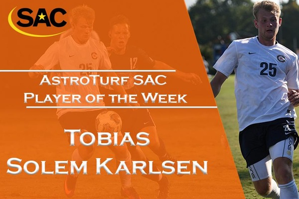Karlsen receives second SAC Player of the Week accolade
