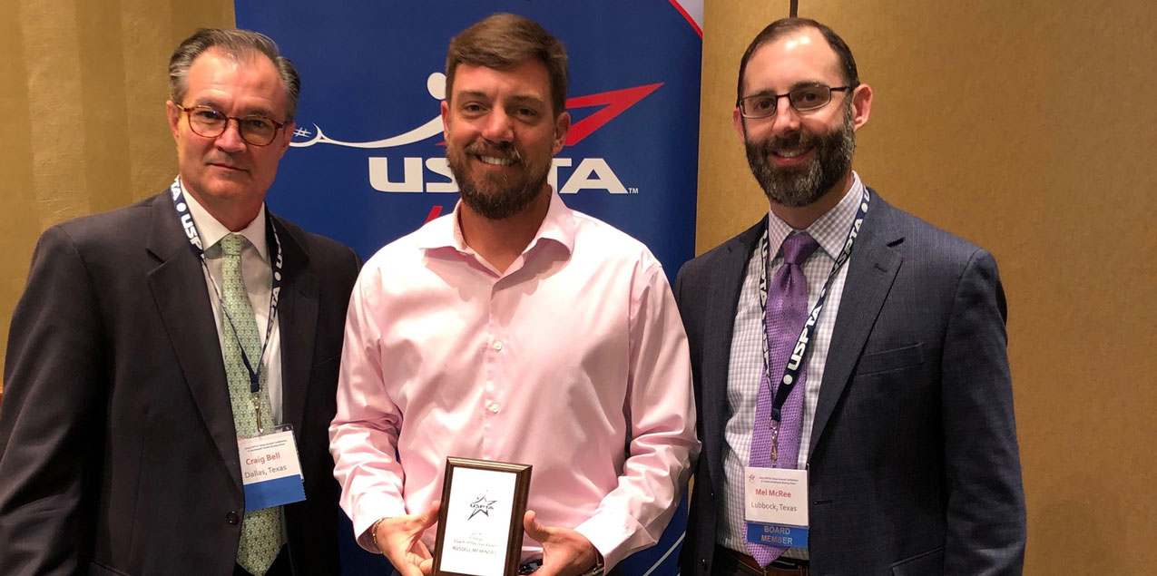 Trinity's McMindes Named Texas College Coach of the Year by USPTA