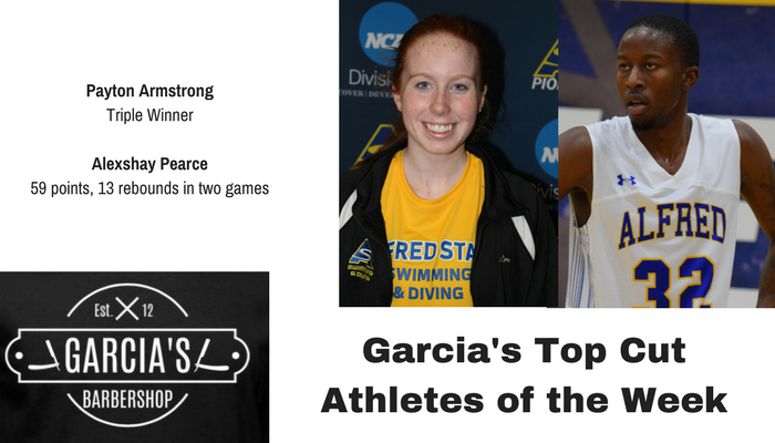 Garcia's Barbershop Top Cut Athletes of the Week - Payton Armstrong and Alexshay Pearce