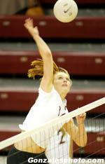 15th-Ranked Volleyball Falls in Four at Saint Mary's
