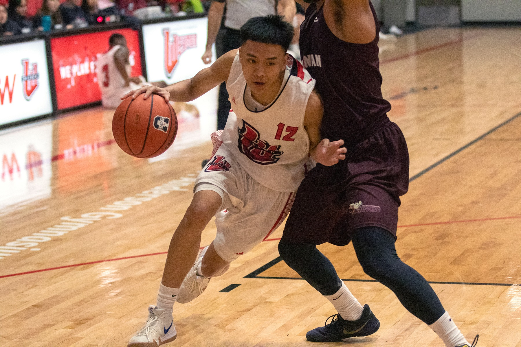 Don Dayrit scored 22 points to lead the Wesmen to a win in Kelowna on Saturday, Jan. 25, 2020. (David Larkins/Wesmen Athletics file)