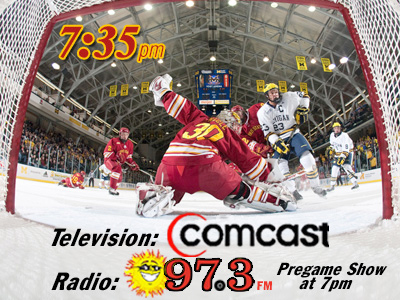 Listen LIVE: #6 FSU Hockey @ #4 Michigan