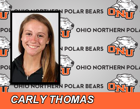 Carly Thomas leads Women's basketball in 63-49 loss at #19 John Carroll