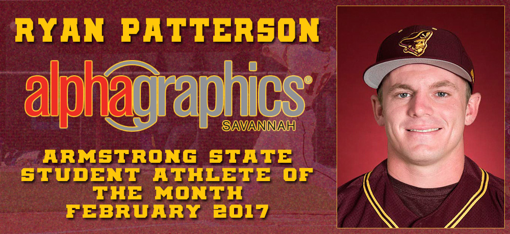 Ryan Patterson Named Alpha Graphics Armstrong State Student-Athlete of the Month for February 2017