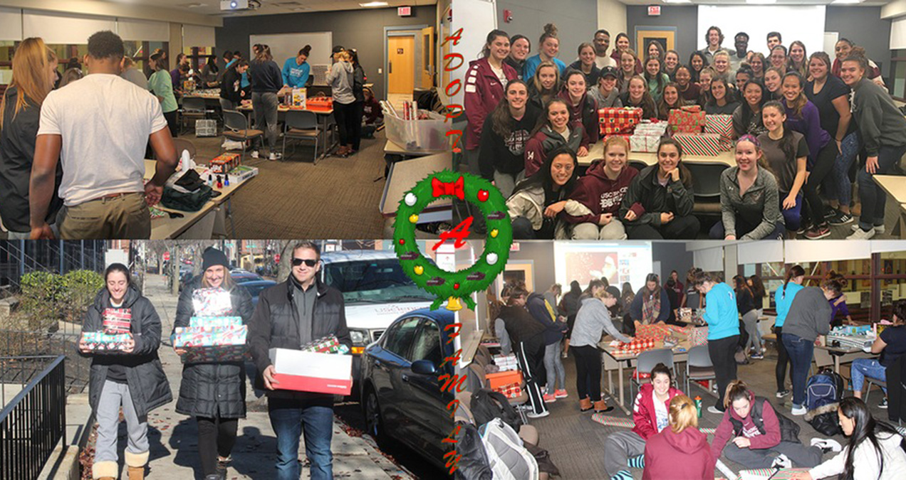 USciences Athletics Partners with Adopt-a-Family for Second Straight Christmas