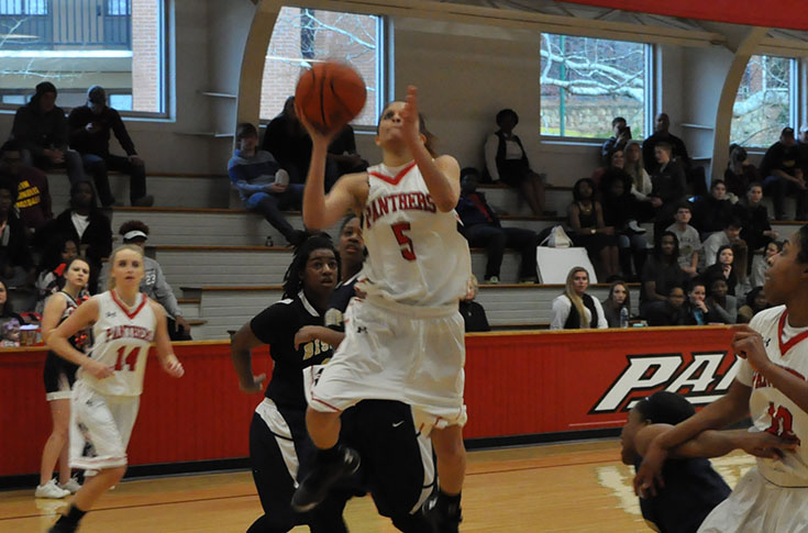 Women's Basketball: Panthers pull away from N.C. Wesleyan for third straight win