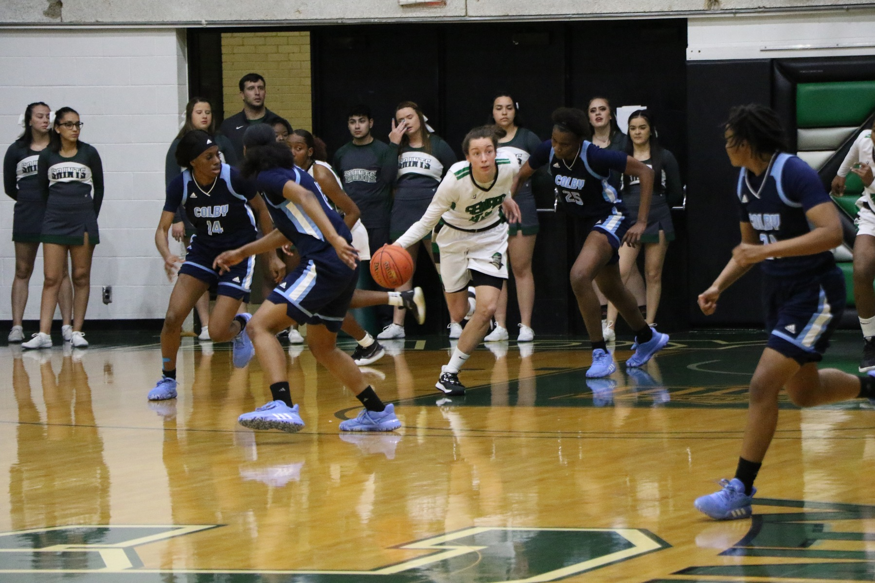 No. 12 Lady Saints claim 60th win in a row in the Greenhouse