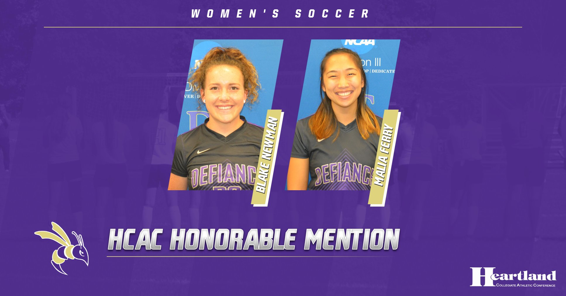 Newman and Ferry earn All-HCAC Honorable Mention accolades