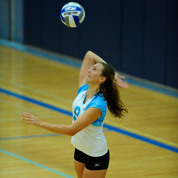 Volleyball Cruises Past Elms and Castleton State