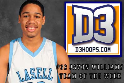 Williams Selected to D3Hoops.com National Team of the Week