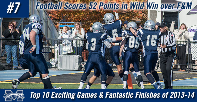 Top 10 Exciting Games of 2013-14 - #7 Football Scores 52 Points in Wild Win over F&M