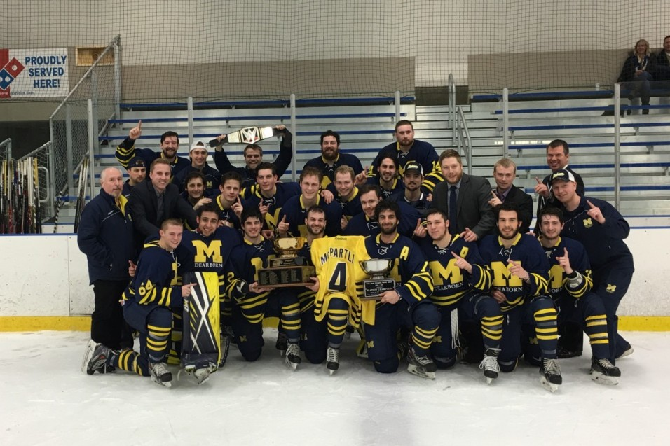 Groat scores four goals, Wolverines repeat as GLCHL Champions