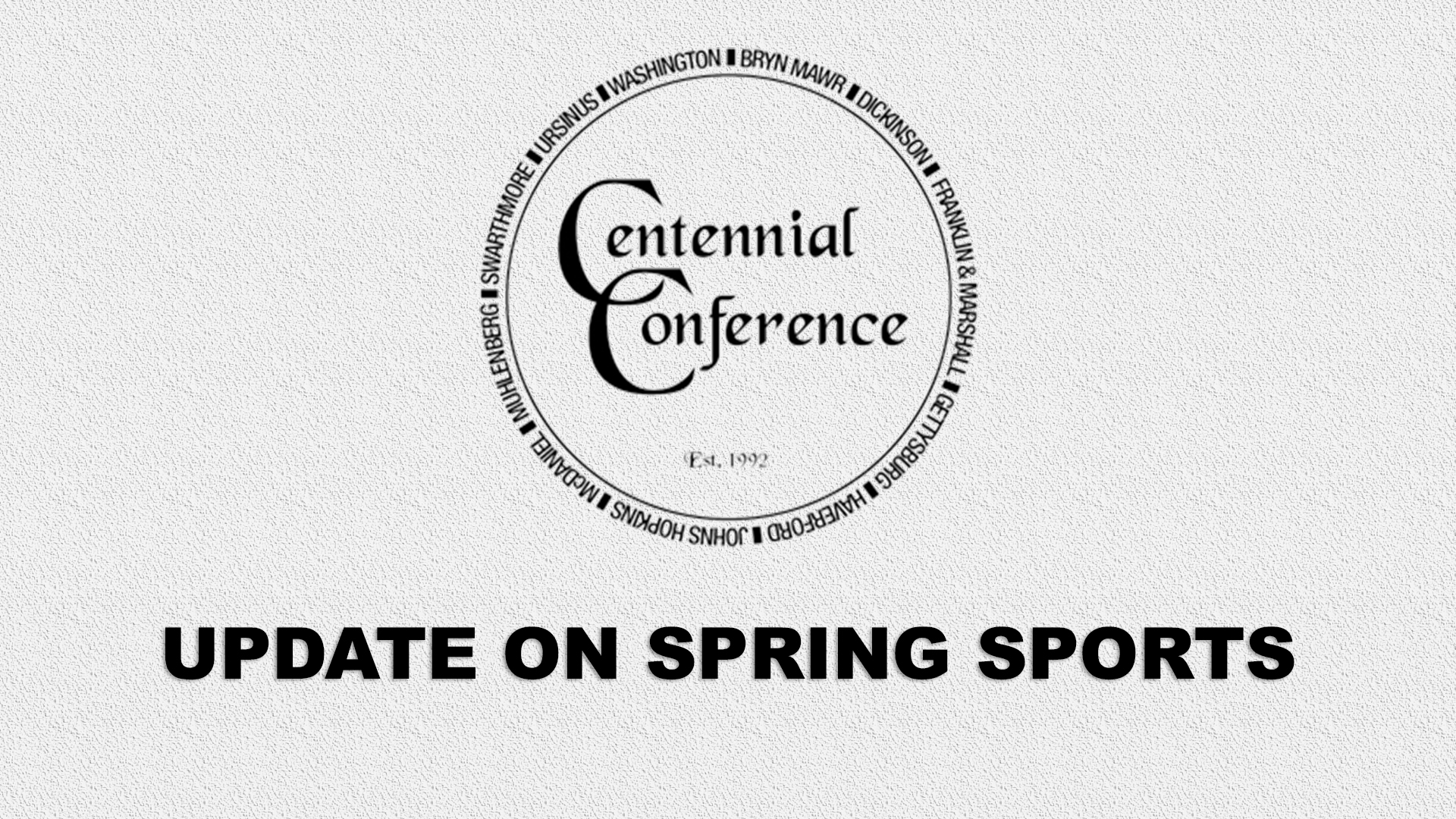 Centennial Conference Update on Spring Sports