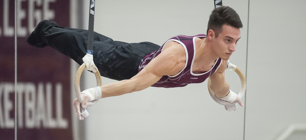 Men's Gymnastics Records Season-Best Team Score in Sunday Matinee With Army