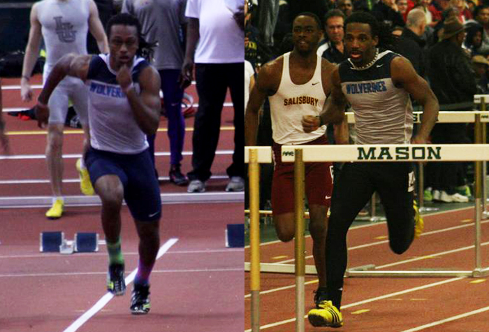 Men's Track Takes 4th at CAC Indoor Championships